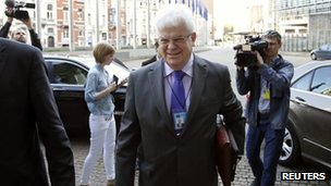 Russia's envoy to the European Union Vladimir Chizhov, 11 June 2014