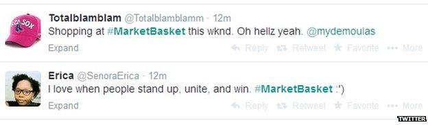 Twitter #MarketBasket tweets