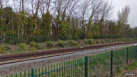 Railway near Ainsdale station, Merseyside