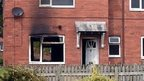 Scene of fire (Pic: Daily Post)