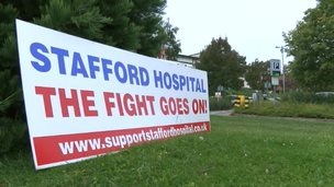Stafford Hospital protest sign