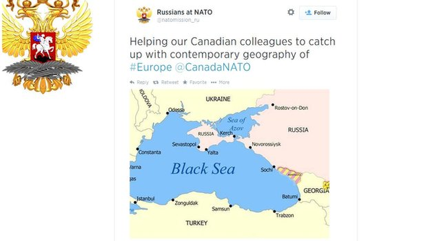 Russia responds to a Canadian jab on Twitter