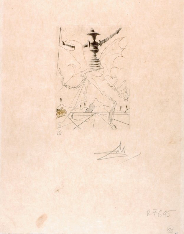 Salvador Dali etching