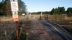 Railway near Ainsdale station