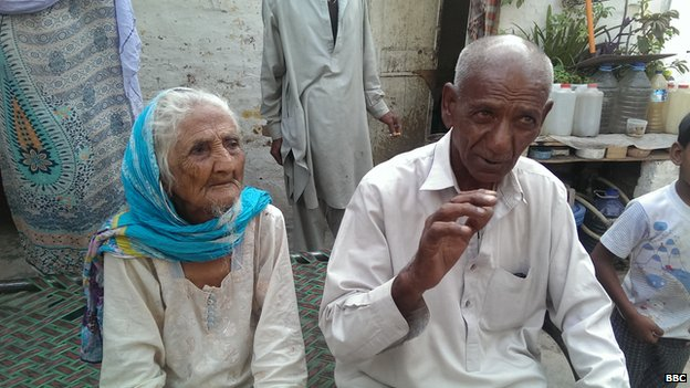 retired government servant Allah Ditta 85 and his mother