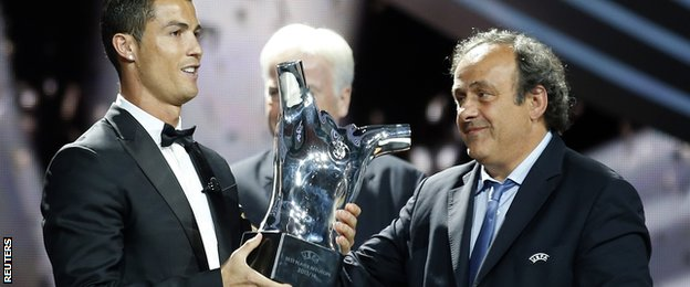 Cristiano Ronaldo wins Uefa Best Player in Europe Award