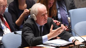 Sir Mark Lyall Grant - the UK's ambassador to the UN