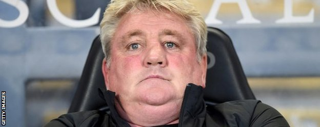 Steve Bruce shows his disappointment