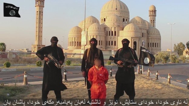 Image from IS video of execution in Mosul - 28 August 2014