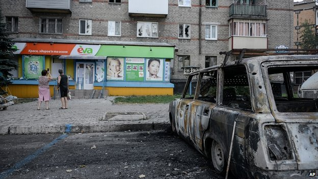 Shell damage in Donetsk. 28 Aug 2014