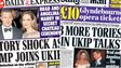 Composite image of Express and Mail front pages