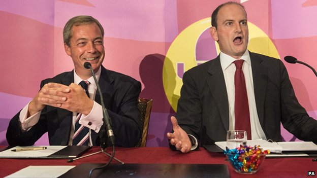 Nigel Farage and Douglas Carswell during the UKIP press conference
