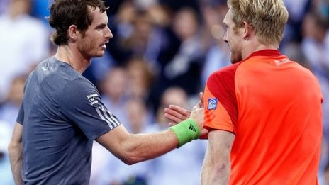 Andy Murray and Matthias Bachinger