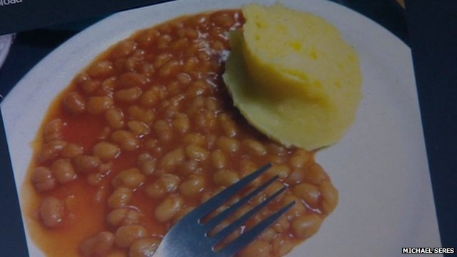 Picture of hospital food