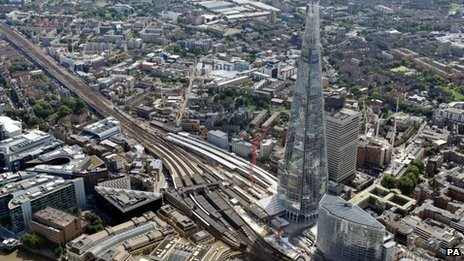 Aerial view of Thameslink