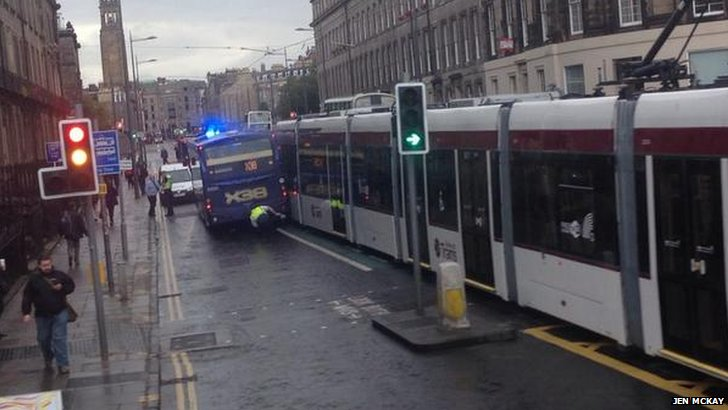 tram bus collision