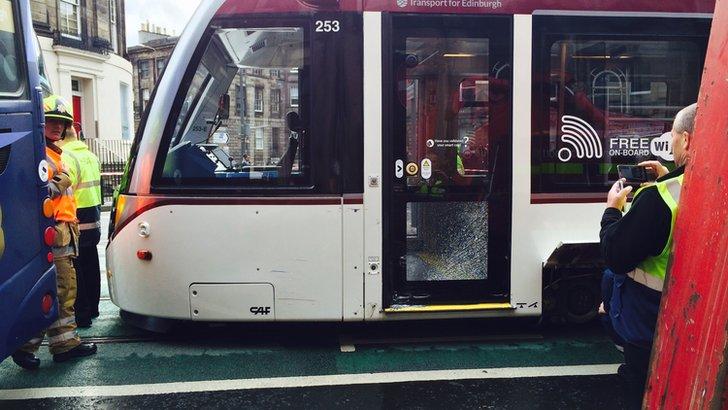 tram damage