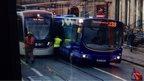 Tram and bus crash