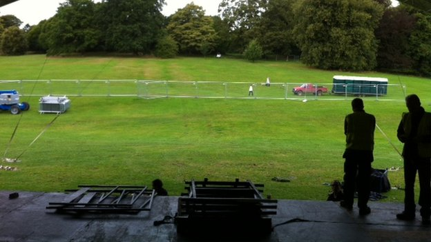 Darley Park stage view