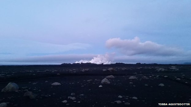 Shot of Bardarbunga volcano in Iceland August 28 2014