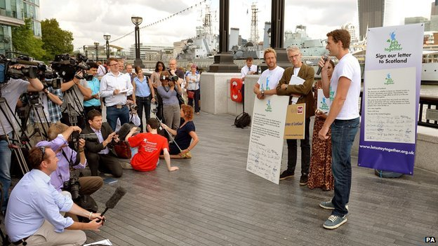 Dan Snow launches the Let's Stay Together campaign in London.