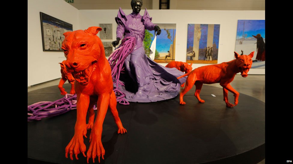 Cry Havoc sculpture at the International Joburg Art Fair - Friday 22 August 2014