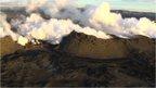 Aerial shot of Iceland's Bardarbunga volcano