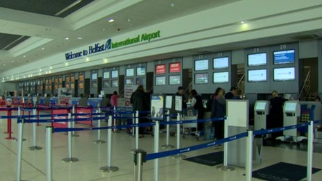 Belfast International Airport said it did not have the staffing adequacy to open more than one security scanner