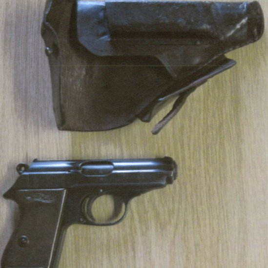 German Walther PPK pistol owned by Jonathan Farmer