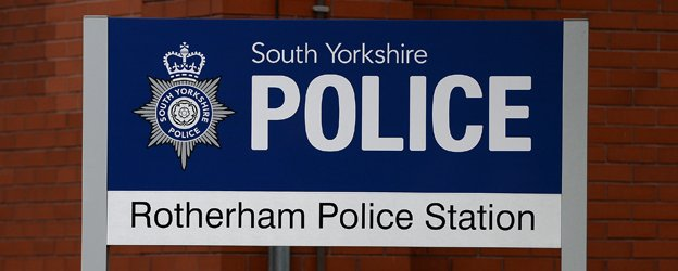 Rotherham police sign