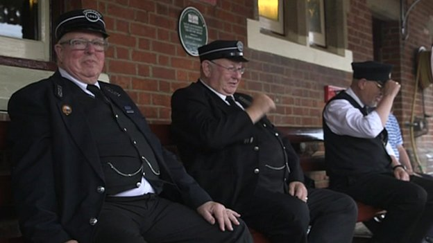 Bluebell Railway volunteers