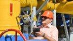 Ukraine gas installation near Kharkiv - file pic