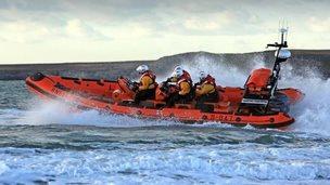 Trearddur Bay Atlantic 85 class lifeboat