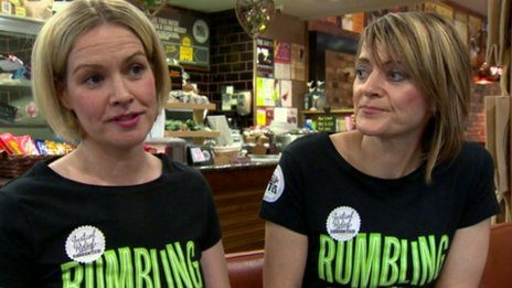 Siobhan and Michelle Reel opened a coffee shop in the city in 1994