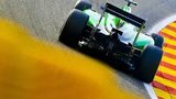 A Caterham car in Formula 1 action