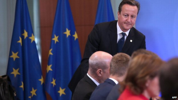 File photo: British Prime Minister David Cameron at the EU Council on 27 June 2014 at the EU headquarters in Brussels