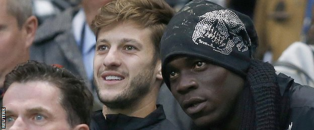 Adam Lallana and Mario Balotelli