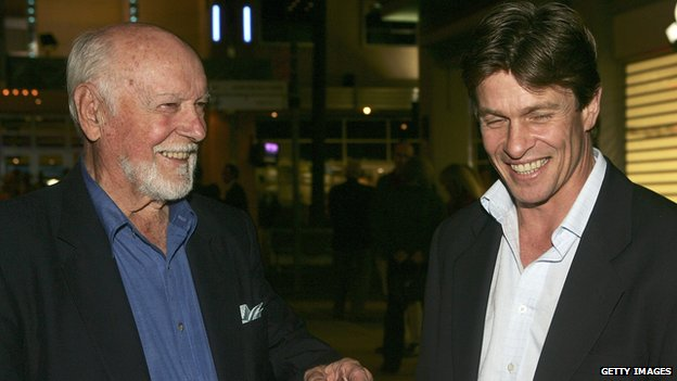Bill Kerr with Mark Lee in 2005