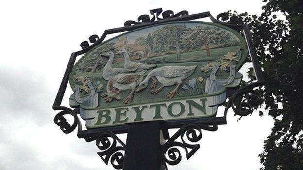 Beyton village sign
