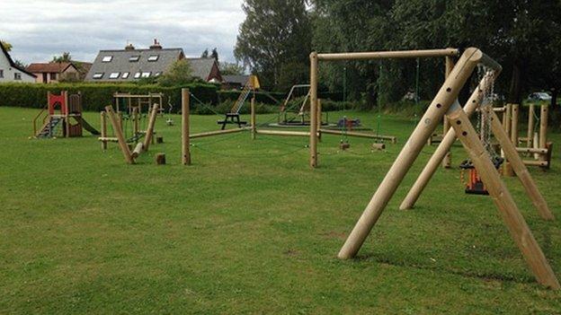 Beyton village green play area