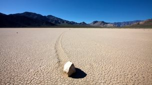 Sailing rock in Death Valley