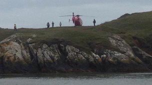 Search at Aberffraw Beach (Pic: Dilwyn Griffith)