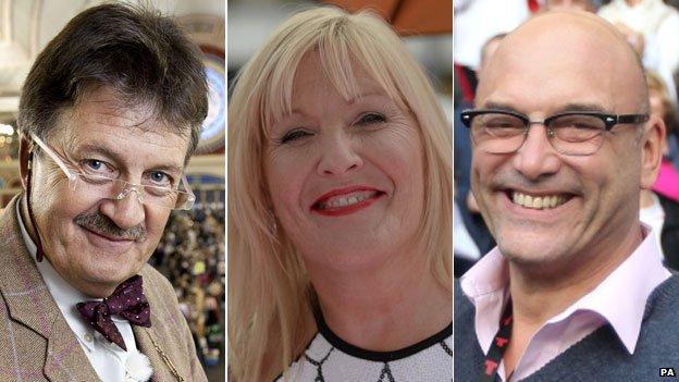 Tim Wonnacott, Jennifer Gibney and Gregg Wallace