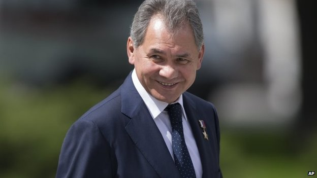 Sergei Shoigu's plane was reportedly forced to fly back to the Slovakian capital Bratislava.
