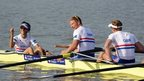 George Nash, William Satch and Phelan Hill of Great Britain at the World Rowing Championships