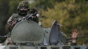 Ukrainian soldier in Donetsk region (29 August 2014)