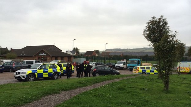 Police near Moorhayes Community Centre