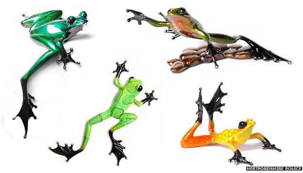 Bronze Frogman sculptures