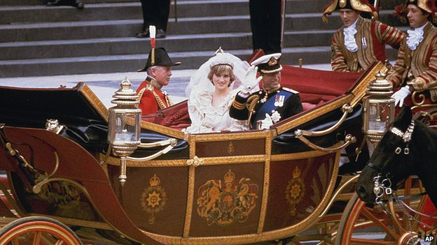 Prince Charles and Princess Diana wedding day