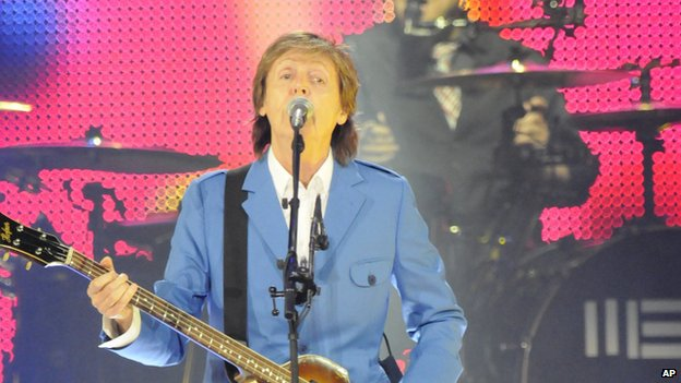 Sir Paul McCartney at the Times Union Centre, Albany, New York, on 5 July 2014